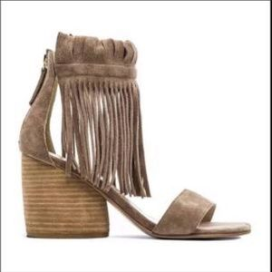 Maitko Free People Morgan Fringed Suede Sandal